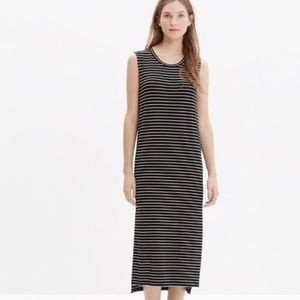 Madewell Sleeveless Crew Neck Striped Maxi Sz XS